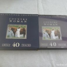 CDs de Música: DOBLE CD COUNTRY WOMAN - THE PLATINUM COLLECTION. 40 TEMAS. Lote 79553057