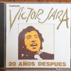 CDs de Música: VICTOR JARA. 20 AÑOS DESPUÉS. 1998. Lote 79562497