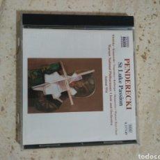 CDs de Música: PENDERECKI ST. LUKE PASSION NAXOS. Lote 79632019