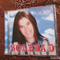 CDs de Música: SOLEDAD CD- TITULO LA SOLE- 12 CANCIONES-ORIGINAL DEL 98- EDITADO EN ARGENTINA- NUEVO PERO ABIERTO. Lote 226949225