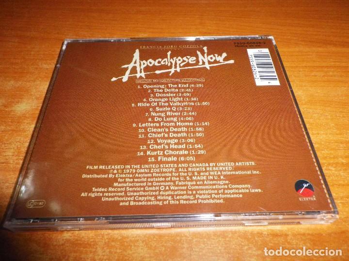 CDs de Música: APOCALYPSE NOW BANDA SONORA CD ALBUM ALEMANIA CARMINE COPPOLA FRANCIS COPPOLA 15 TEMAS - Foto 2 - 79912925