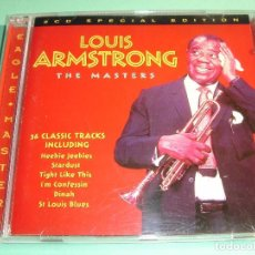 CDs de Música: LOUIS ARMSTRONG / THE MASTERS / 36 CLASSIC TRACKS / THE BEST OF / GREATEST HITS / 2 CD. Lote 79931317