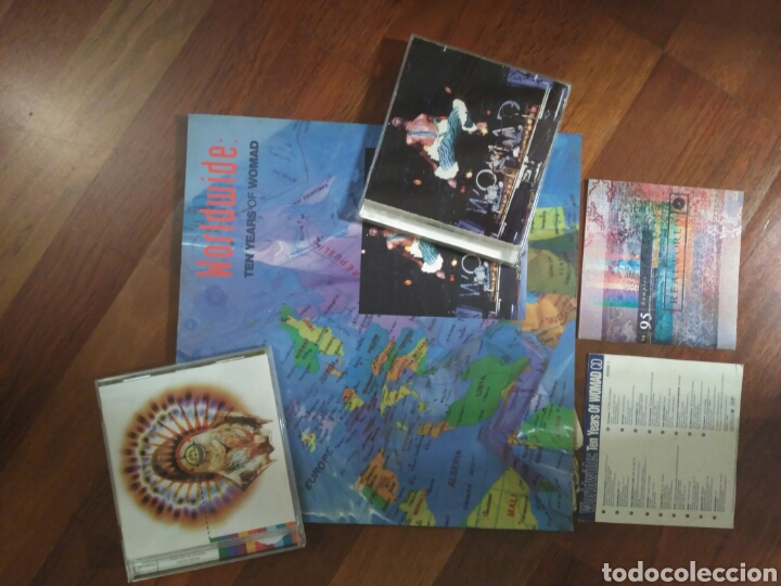WORLWIDE TEN YEARS OF WOMAD LIBRO+CD + CD SAMPLER 95+ VOICES OF REAL WORLD CD (Música - CD's World Music)