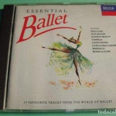 CDs de Música: ESSENTIAL BALLET / 19 FAVOURITES TRACKS FROM THE WORLD OF BALLET / MÚSICA DE BALLET / DECCA / CD. Lote 79979949