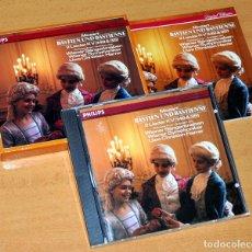 CDs de Música: ESTUCHE DE CD + LIBRETO: BASTIEN UND BASTIENNE (OPERETA EN ALEMÁN) - MOZART - PHILIPS 1987. Lote 80084741
