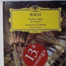CDs de Música: DEUTSCHE GRAMMOPHON - BACH - LIBRO + 2 CDS - PRECINTADO. Lote 80274573
