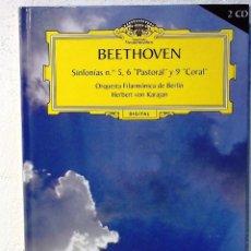 CDs de Música: DEUTSCHE GRAMMOPHON - BEETHOVEN - LIBRO + 2 CDS. Lote 80275449