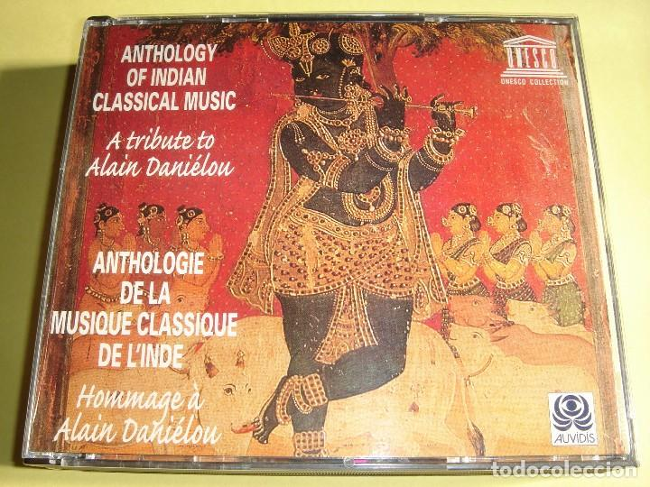 ANTHOLOGY OF INDIAN CLASSICAL MUSIC / A TRIBUTE TO ALAIN DANIELOU / FOLK / AUVIDIS / 3 CD (Música - CD's Country y Folk)