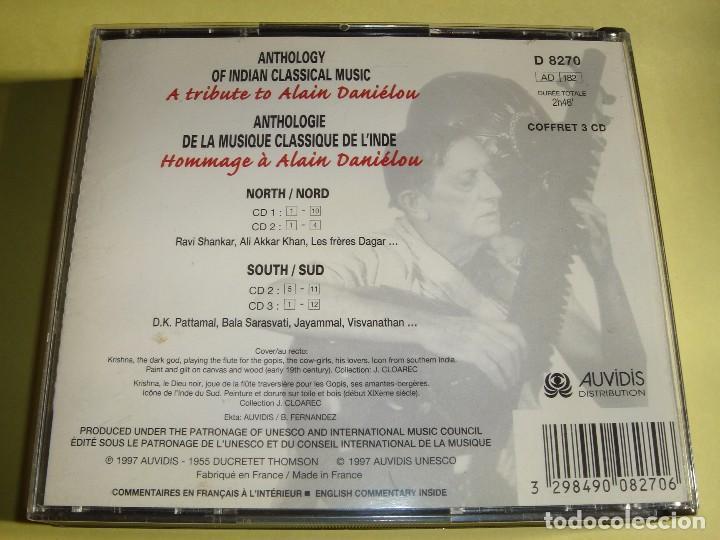 CDs de Música: ANTHOLOGY OF INDIAN CLASSICAL MUSIC / A TRIBUTE TO ALAIN DANIELOU / FOLK / AUVIDIS / 3 CD - Foto 2 - 150327421