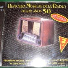 CDs de Música: HISTORIA MUSICAL DE LA RADIO DE LOS AÑOS 50 / PETICIONES DEL OYENTE / NOVOSON 2001 / 2 CD. Lote 80352693
