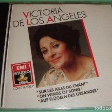 CDs de Música: VICTORIA DE LOS ÁNGELES / SUR LES AILES DU CHANT / EMI STUDIO 1988 / CD. Lote 80359053