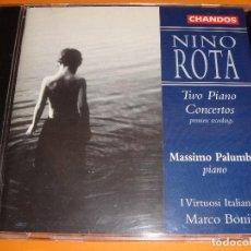 CDs de Música: NINO ROTA / TWO PIANO CONCERTOS / MASSIMO PALUMBO / MARCO BONI / CHANDOS RECORDS / CD. Lote 80364873