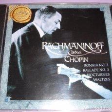 CDs de Música: SERGEI RACHMANINOFF / PLAYS CHOPIN / FRÉDERIC CHOPIN / PIANO / GRABACION: 1919-1935 / CD. Lote 80365821