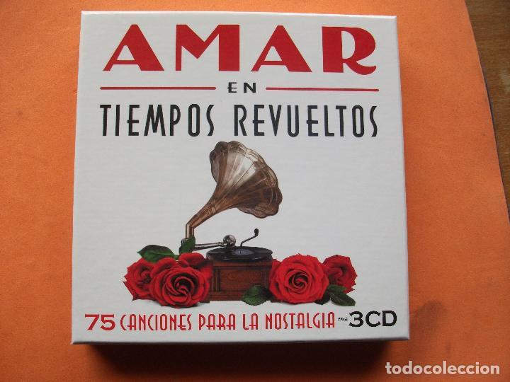 AMAR EN TIEMPOS REVUELTOS 75 CANCIONES TRIPLE CD.2009. COMO NUEVO¡¡ PEPETO (Música - CD's Flamenco, Canción española y Cuplé)