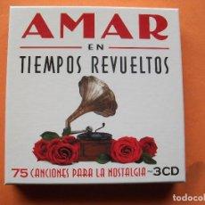 CDs de Música: AMAR EN TIEMPOS REVUELTOS 75 CANCIONES TRIPLE CD.2009. COMO NUEVO¡¡ PEPETO. Lote 224987445