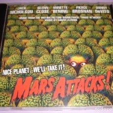 CDs de Música: MARS ATTACKS / ORIGINAL SOUNDTRACK / DANNY ELFMAN / BANDA SONORA / BSO / CD. Lote 80487585