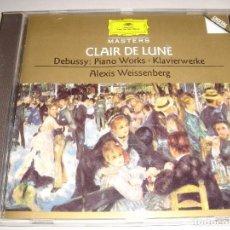 CDs de Música: CLAUDE DEBUSSY / OBRAS PARA PIANO / ALEXIS WEISSENBERG / DEUTSCHE GRAMMOPHON / CD. Lote 80506437