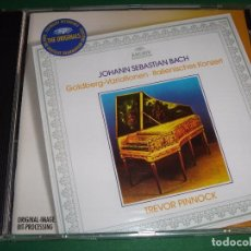 CDs de Música: JOHANN SEBASTIAN BACH / GOLDBERG VARIACIONES / TREVOR PINNOCK / DEUTSCHE GRAMMOPHON / CD. Lote 80508133