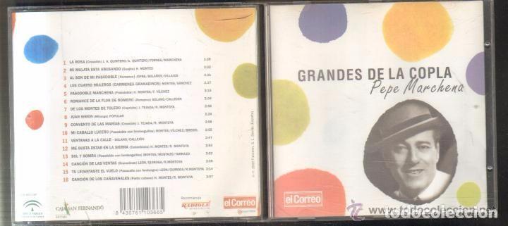 GRANDES DE LA COPLA PEPE MARCHENA. EDICIÓN EL CORREO DE ANDALUCÍA (Música - CD's Flamenco, Canción española y Cuplé)