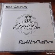 CDs de Música: BAD COMPANY RUN WITH THE PACK. Lote 81100320