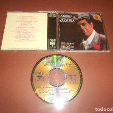CDs de Música: PLACIDO DOMINGO ( ROMANZAS Y DUOS DE ZARZUELA ) - CD - CBS - CDDI-10371 - TE QUIERO MORENA .... Lote 81115212
