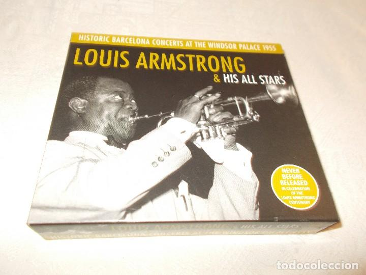 LOUIS ARMSTRONG& HIS ALL STARS HICTORIC BARCELONA CONCERTS AT THE WINDSOR PALACE 1955 (Música - CD's Jazz, Blues, Soul y Gospel)