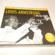 CDs de Música: LOUIS ARMSTRONG& HIS ALL STARS HICTORIC BARCELONA CONCERTS AT THE WINDSOR PALACE 1955. Lote 81119804