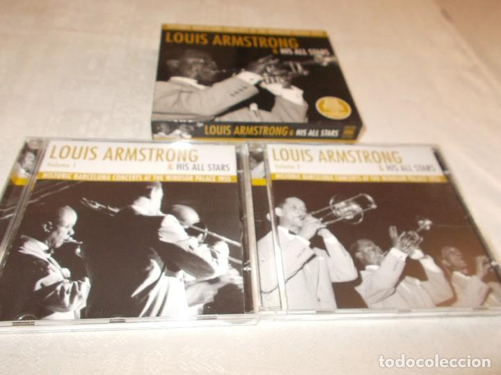 CDs de Música: LOUIS ARMSTRONG& His All Stars Hictoric Barcelona Concerts at The Windsor Palace 1955 - Foto 2 - 81119804