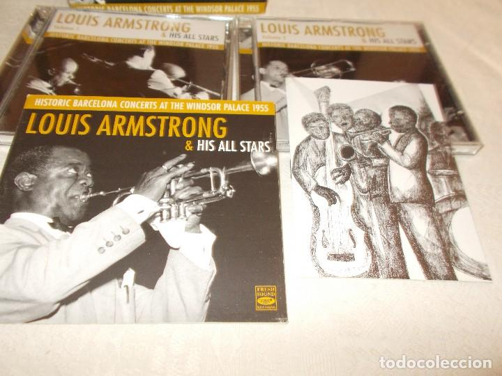 CDs de Música: LOUIS ARMSTRONG& His All Stars Hictoric Barcelona Concerts at The Windsor Palace 1955 - Foto 3 - 81119804