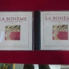 CDs de Música: LA BOHÈME - DOBLE CD. Lote 81180560