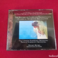 CDs de Música: THE RECORD OF CALM AND TRANQUILLITY 2 CDS. Lote 81180940