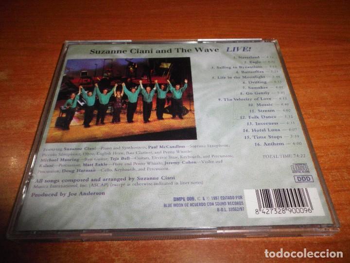 CDs de Música: SUZANNE CIANI AND THE WAVE Live CD ALBUM DEL AÑO 1997 CONTIENE 16 TEMAS NEW WAVE RARO - Foto 2 - 222382776