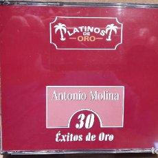 CDs de Música: ANTONIO MOLINA. LATINOS DE ORO. 30 ÉXITOS DE ORO. DOBLE CD / NOVOSON - 1999. / LUJO.. Lote 81727200
