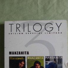 CDs de Música: MANZANITA TRILOGY - CAJA CON 3 CDS - POR TU AUSENCIA / DÍMELO / GITANO CUBANO - DESCATALOGADO. Lote 81953400