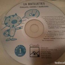 CDs de Música: CD EDUCACIO INFANTIL 4 ANYS - ED.CASALS - LA RATLLETES CANÇONS CONTES I AUDICIONS --REFSAMUMEESEN. Lote 82141360