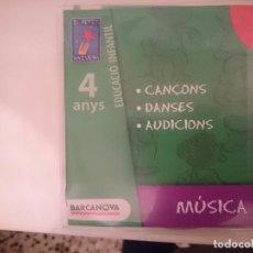 CDs de Música: CD EDUCACIO INFANTIL 4 ANYS - ED. BARCANOVA - MUSICA --REFSAMUMEESEN. Lote 82141380