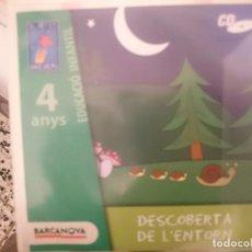 CDs de Música: CD EDUCACIO INFANTIL 4 ANYS - ED. BARCANOVA - DESCOBERTA DE L´ENTORN --REFSAMUMEESEN. Lote 82141432