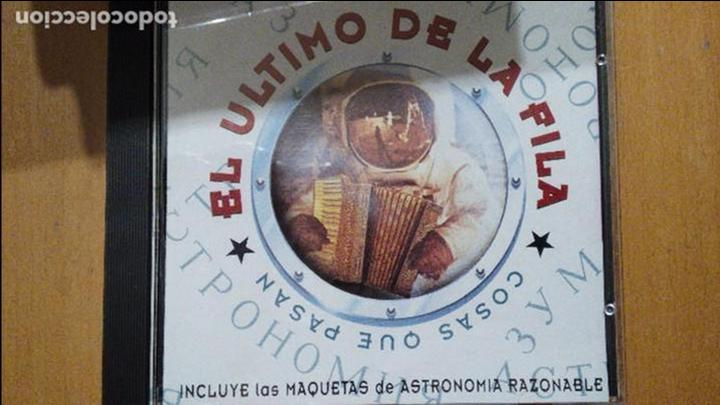EL ULTIMO DE LA FILA CD COSAS QUE PASAN INCLUYE LAS MAQUETAS DE ASTRONOMÍA RAZONABLE (Música - CD's Rock)