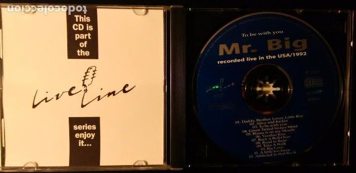CDs de Música: MR BIG. TO BE WITH YOU (RECORDED LIVE IN THE USA / 1992) LIVE LINE 1993 - Foto 2 - 82354448