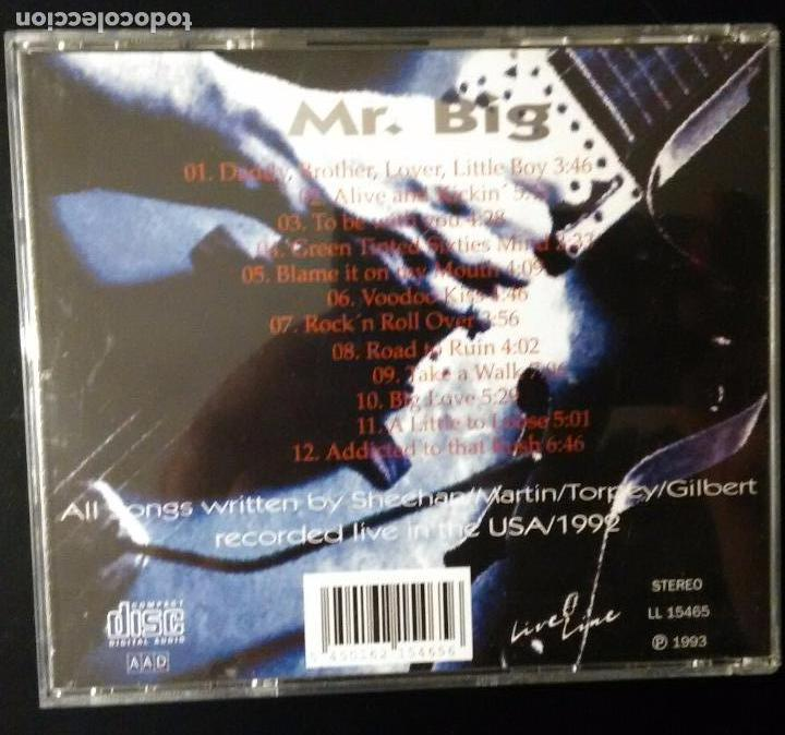 CDs de Música: MR BIG. TO BE WITH YOU (RECORDED LIVE IN THE USA / 1992) LIVE LINE 1993 - Foto 3 - 82354448