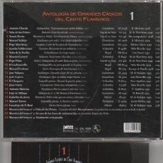 CDs de Música: GRANDES CLASICOS DEL CANTE FLAMENCO - Nº 1 (CD CALE RECORDS 2001). Lote 121259924