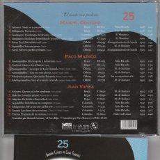 CDs de Música: GRANDES CLASICOS DEL CANTE FLAMENCO - Nº 25 MANUEL CENTENO (CD CALE RECORDS 2001). Lote 121259590