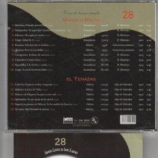 CDs de Música: GRANDES CLASICOS DEL CANTE FLAMENCO - Nº 28 MANOLO PAVON (CD CALE RECORDS 2001). Lote 121259518