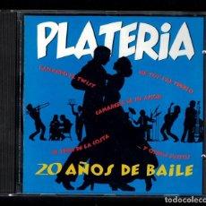 CDs de Música: PLATERÍA. 20 AÑOS DE BAILE (ORQUESTA PLATERÍA) CD. Lote 82624572