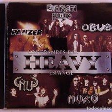 CDs de Música: LOS GRANDES DEL HEAVY ESPAÑOL - BARON ROJO - OBUS - PANZER - ÑU - MURO (CD) 1999 - 14 TEMAS. Lote 83055404