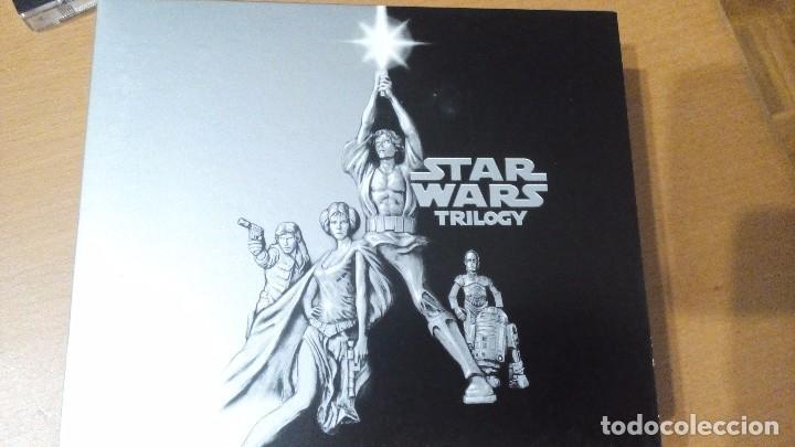 STAR WARS TRILOGY EPISODIOS IV V VI TRES CDS DOBLES ESTUCHE CARATULAS TRIDIMENSIONALES (Música - CD's Bandas Sonoras)