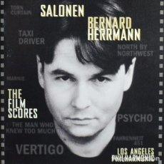 CDs de Música: THE FILM SCORES: SALONEN (PSYCHO, FAHRENHEIT 451...) / BERNARD HERRMANN CD BSO. Lote 83611920
