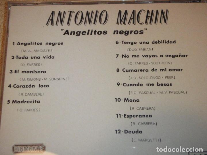 CDs de Música: ANTONIO MACHIN ( ANGELITOS NEGROS ) 1990-SPAIN CD - Foto 2 - 83643876