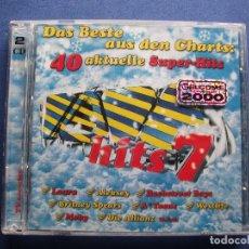 CDs de Música: CD DOBLE TODO VERSIONES ORIGINALES POLYDOR VIRGIN , EMI ...40 SUPER HITS 7 COMO NUEVO¡¡ PEPETO. Lote 83749888