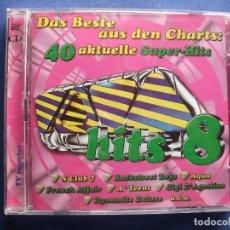 CDs de Música: CD DOBLE TODO VERSIONES ORIGINALES POLYDOR VIRGIN , EMI ...40 SUPER HITS 8 COMO NUEVO¡¡ PEPETO. Lote 83750180